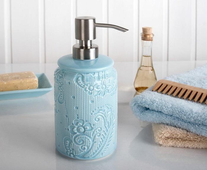 На жидком мыле не будут скапливаться бактерии. / Фото: domhor.ru