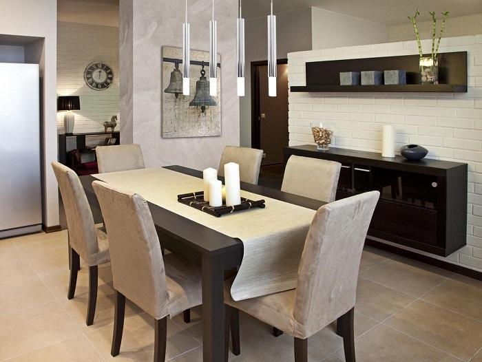 Если в квартире проживает один-два человека, то большой стол не нужен. / Фото: domsveta-nn.ru