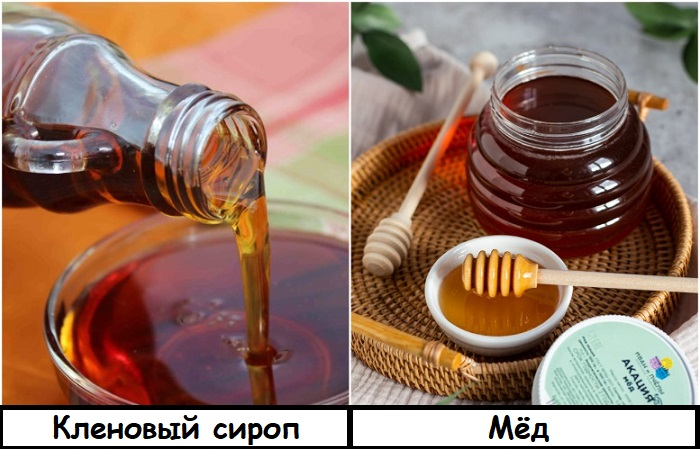 Кленовый сироп можно заменить на мед