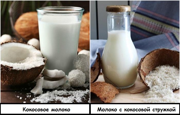 Кокосовое молоко можно заменить обычным с кокосовой стружкой
