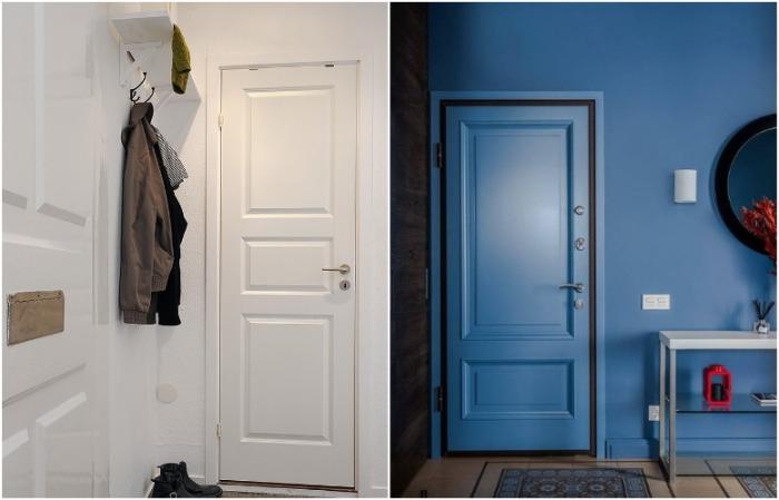 Двери в цвет стен не перетягивают внимание на себя