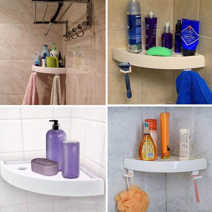 Разномастные пузырьки и бутылочки портят интерьер ванной. / Фото: ebayimg.com
