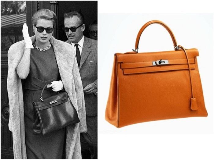 Княгиня Монако Грейс с сумкой от Hermes. / Фото: exceptional-elegance.com