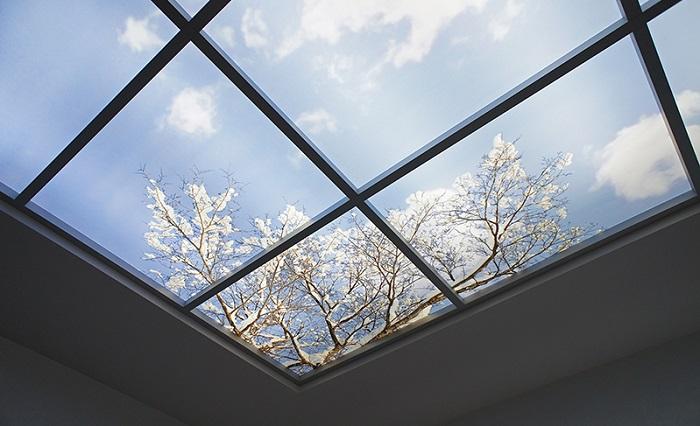 Иллюзию стеклянной крыши разработали американские производители. / Фото: freshsky.ru