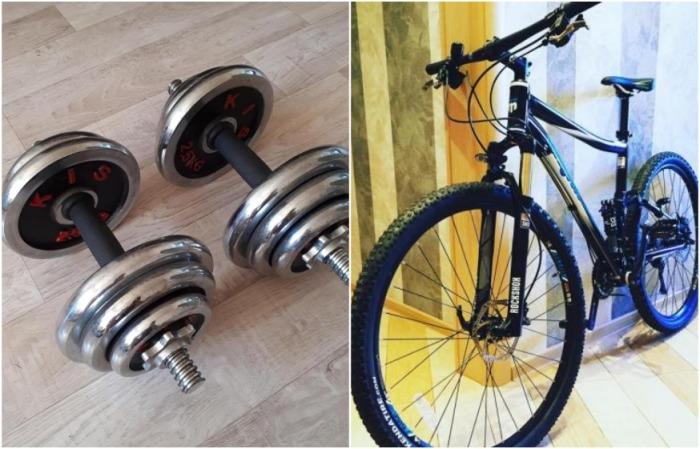Б/У гантели и велосипед подойдут, если вы не уверены, что будете долго заниматься спортом