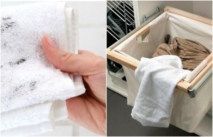 Грязное полотенце следует класть в стиральную машинку, а не корзину для белья