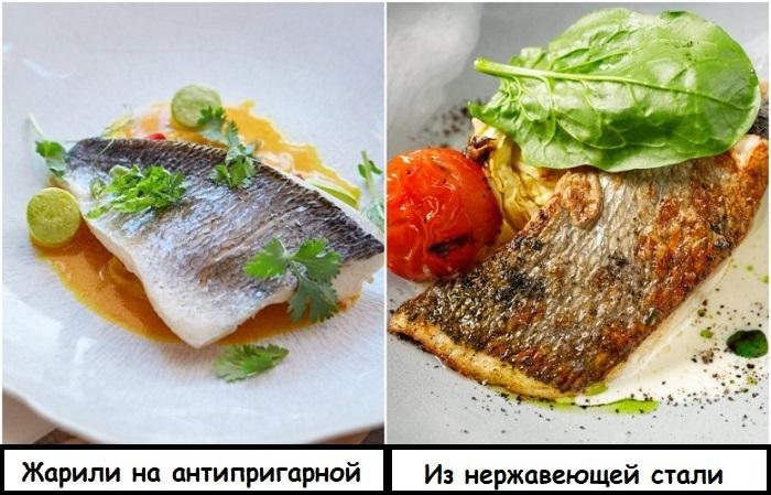 Хрустящая корочка получится, если жарить рыбу на сковороде из нержавеющей стали
