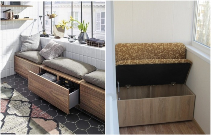 Выбирайте скамьи с нишей под сиденьем