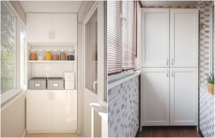 Шкаф может быть полностью или частично закрыт