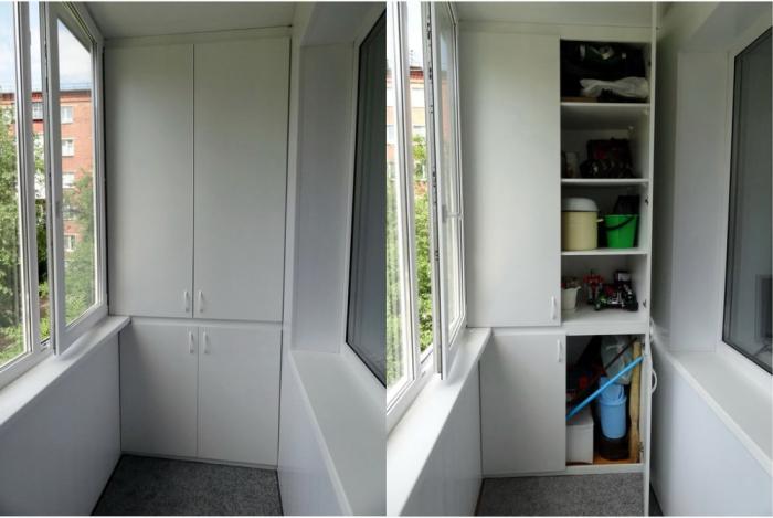 Встроенный шкаф максимально грамотно использует имеющуюся площадь