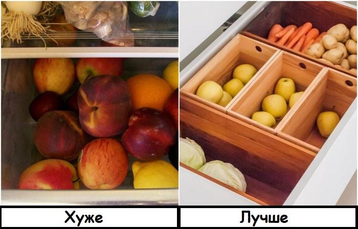 Яблоки способствуют быстрому созреванию фруктов и овощей по соседству