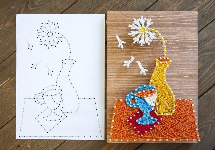 Рисунок на холсте можно вышить нитками, предварительно сделав эскиз иголкой. / Фото: urokirukodelie.ru