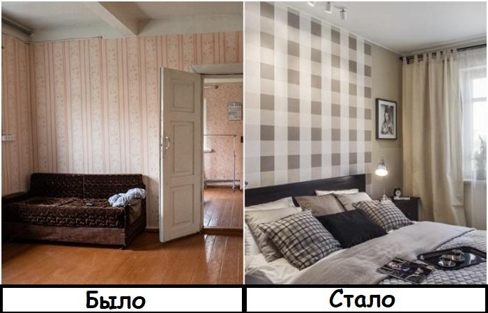 Геометрический принт в отделке стен всегда в моде