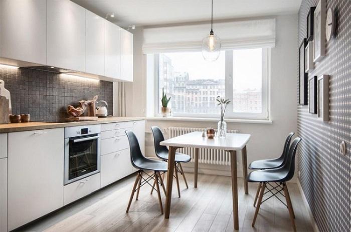 Изменить мебель на кухне будет гораздо проще, если она имеет лаконичные строгие формы. / Фото: interiormag.ru