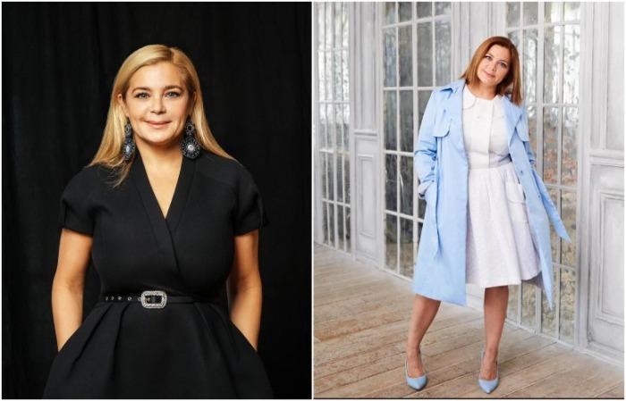 Ирина Пегова носит юбки А-силуэта и V-образный вырез