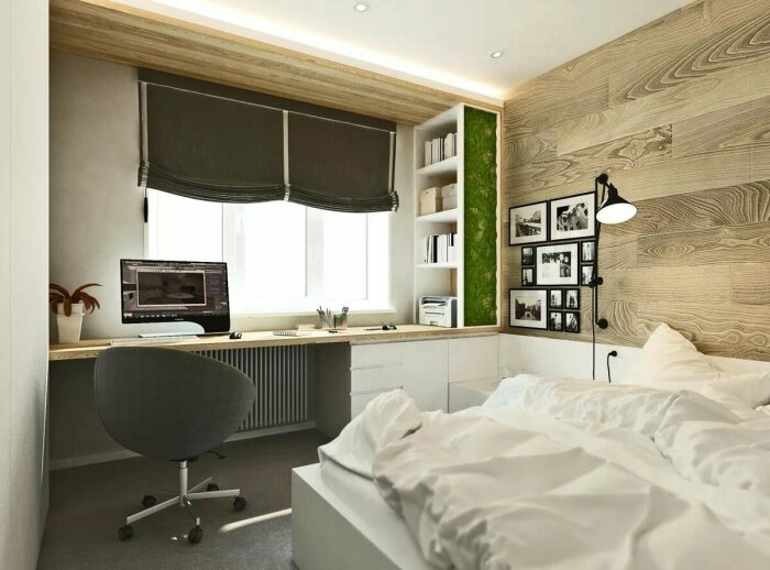 В спальне нужно отдыхать, а не работать. / Фото: stroydesign24.ru
