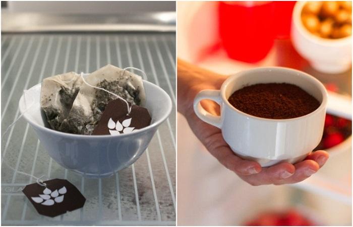 Хорошими нейтрализаторами являются кофе и чайные пакетики