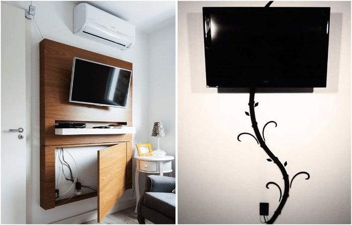 Провода от телевизора спрятать легче, чем кажется