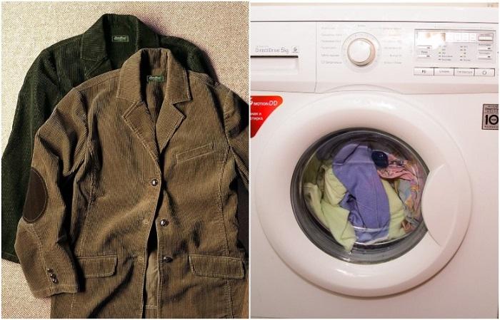 В стиральной машине можно стирать вещи из синтетического вельвета