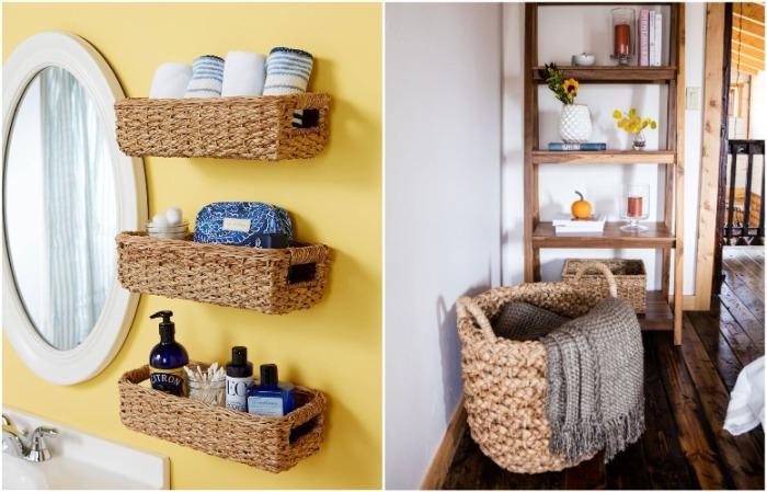 Плетеные корзины - отличное решение для хранения