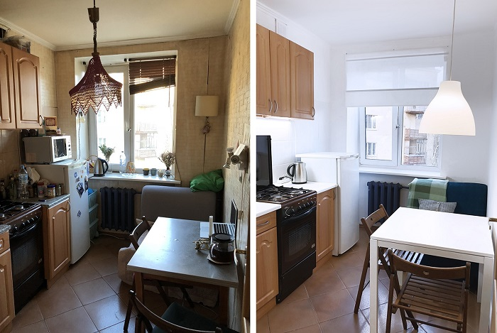 Чтобы получить новый дизайн в однокомнатной квартире, достаточно перекрасить стены. / Фото: kakpostroit.su