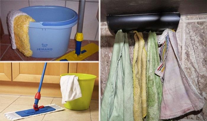Тряпки для уборки нужно менять регулярно. / Фото: kakxranit.r
