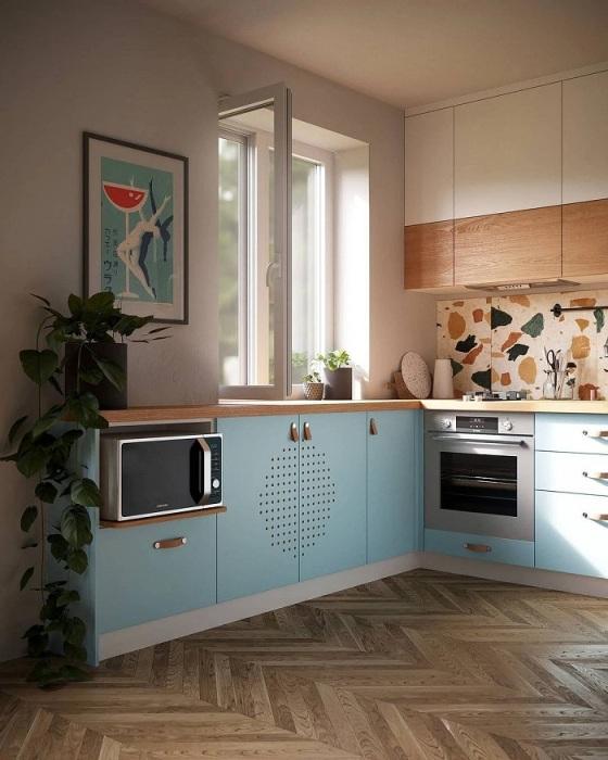 Используйте хрущевский холодильник как продолжение гарнитура. / Фото: ivd.ru