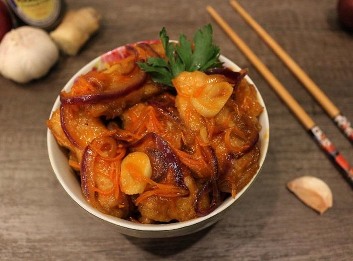 Мясо в крахмале по-китайски. / Фото: mir-da.ru