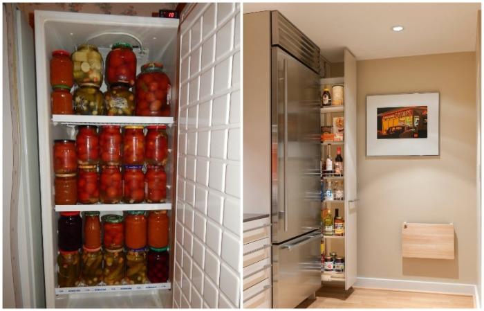 Одну консервацию храните в холодильнике, другую - в узком шкафчике