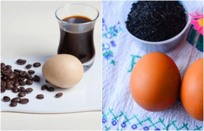 Крепкий чай и кофе сделают яйца коричневыми