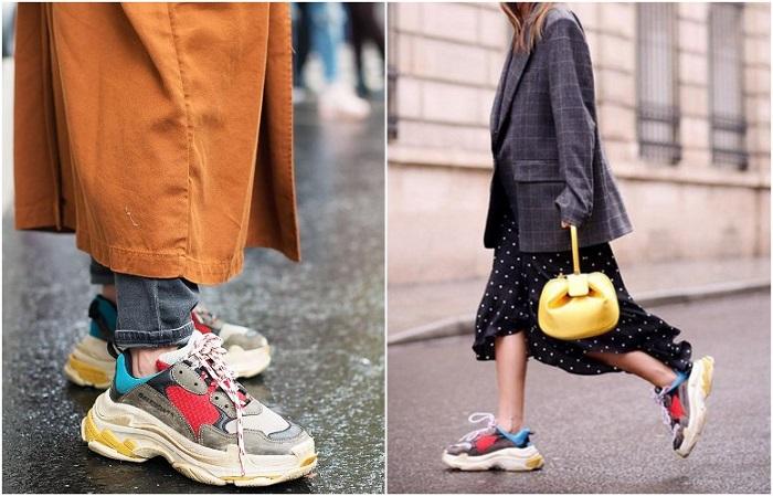 Массивные кроссовки визуально увеличивают размер ноги