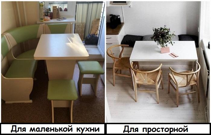 Кухонный уголок уместен только на маленькой кухне
