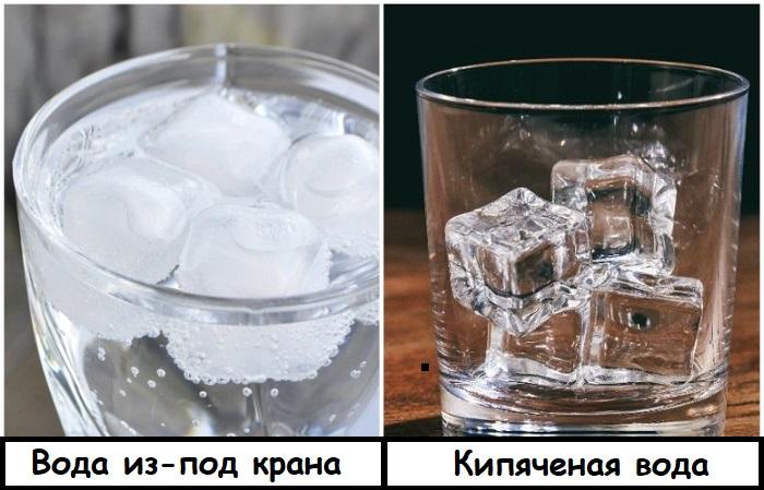Если замораживать проточную воду, лед будет мутным