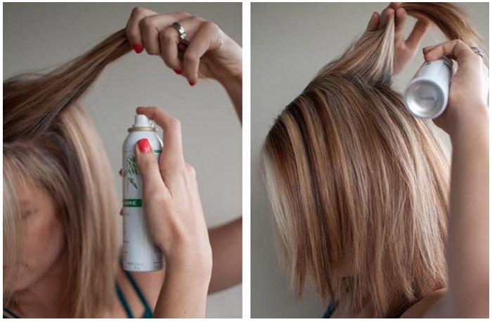 Сухой шампунь можно наносить не только на грязные, но и на чистые волосы