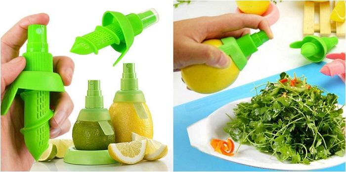 Спрей для лимона поможет быстро получить сок из любых цитрусовых. / Фото: lifehacker.ru