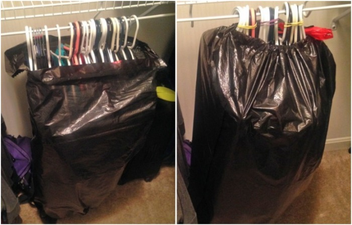 Одежду упакуйте в мусорные пакеты. / Фото: fullpicture.ru