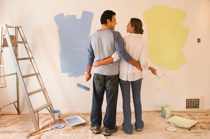 Не нравится цвет стен? Покрасьте. / Фото: love-komfort.ru