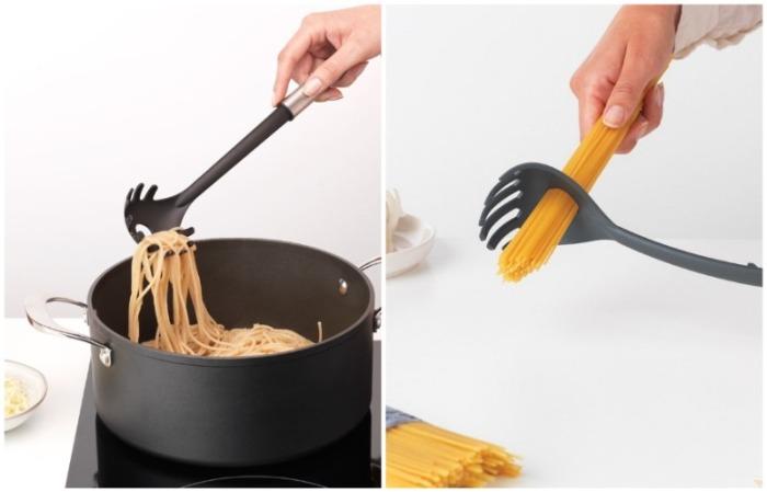 Ложкой можно вытаскивать спагетти или отмерять порцию