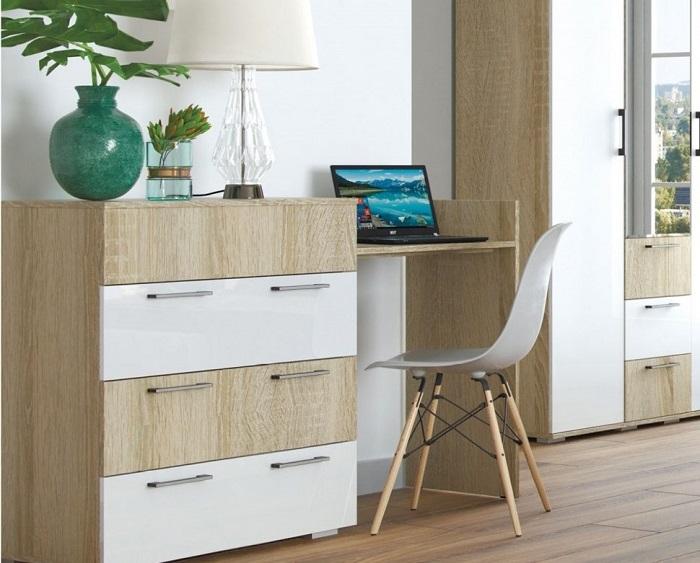 Комод-стол занимает много места и выполняет функции сразу двух предметов. / Фото: magmebel.ru