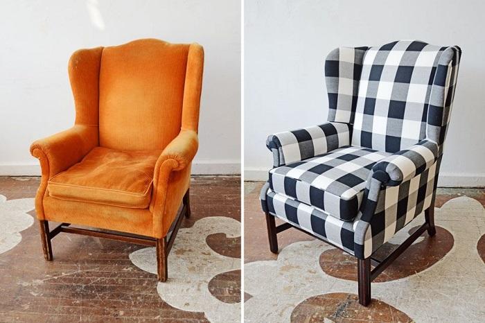После перетяжки мебель может кардинально измениться. / Фото: master-studio.net