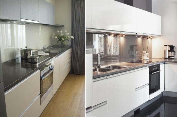 Закаленное стекло - универсальное решение для кухни