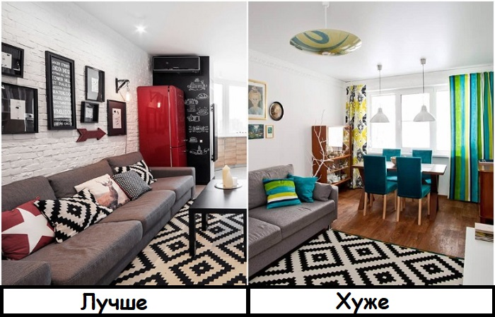 Трех цветов, не считая белого, вполне будет достаточно. / Фото: archidea.com.ua
