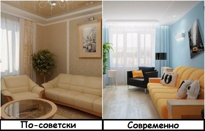 Мебельные гарнитуры смотрятся устарело