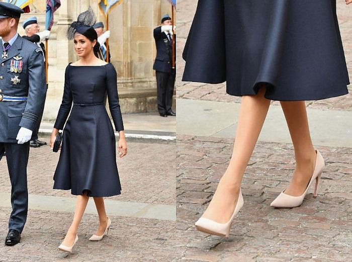 Меган Маркл носит обувь на размер больше. / Фото: milahow.ru