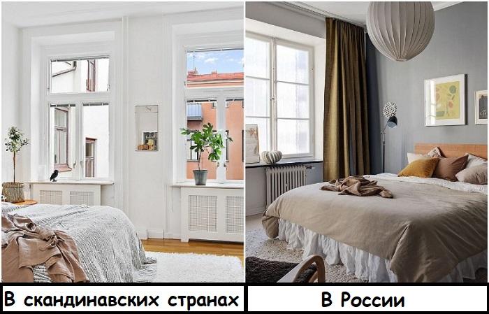 Скандинавы редко вешают шторы, а россиянам они необходимы для обеспечения приватности и крепкого сна