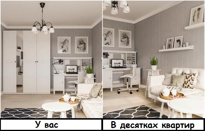 Из-за мебели ИКЕА, скандинавские интерьеры похожи друг на друга