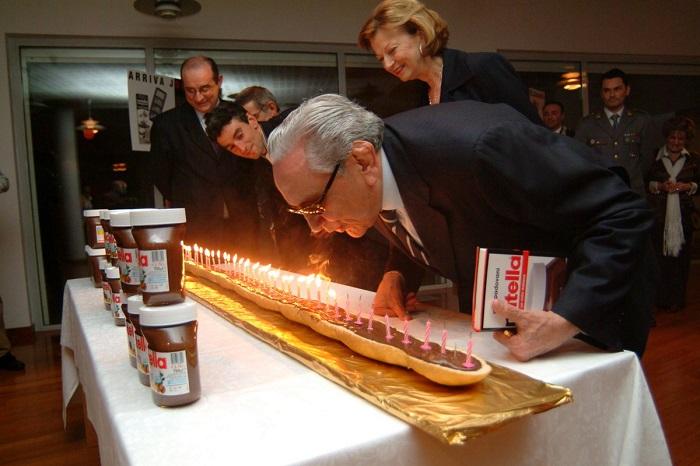 Мишель Ферреро на Дне Рождения Nutella. / Фото: fun-news.ru