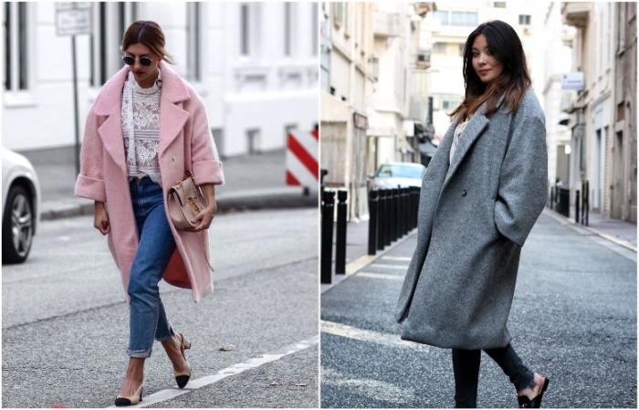 Пальто делает образ женственным и элегантным