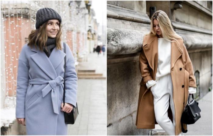 Пальто-халат отлично подчеркивает талию