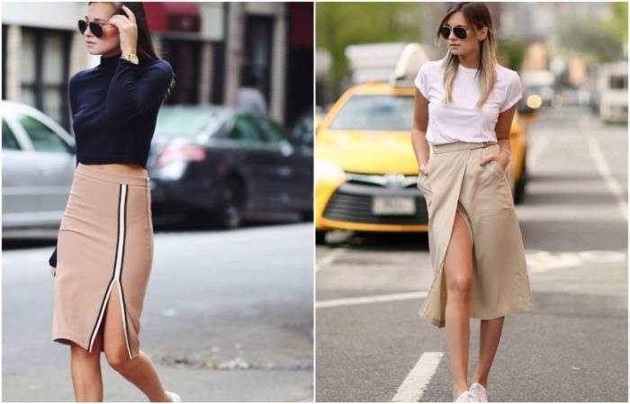 Эти модели юбок отлично комбинируются с кроссовками